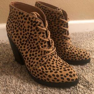 Faux Leopard Bootie